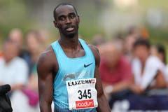 Ndure Jaysuma Saidy, Sieger Männer 100m A-Lauf. (Bild: Philipp Schmidli / Neue LZ)
