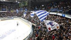 Zuger Fans machen im Stadion Stimmung. (Bild: Stefan Kaiser / Neue ZZ)
