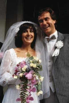 Kurt Felix und Paola del Medico an ihrer Trauung auf dem Bürgenstock am 3. September 1980. (Bild: Keystone)