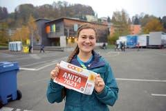Anita Steiner, Reiden: «Ich habe erst im Jahr 2015 die Freude zum Laufsport entdeckt. Im Mai bestritt ich den Aargau-Marathon, nun ist Luzern meine grosse Herausforderung.» (Bild: Michael Wyss)