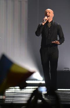 Rumänien: Voltaj mit seinem Song 'De La Capat/ All Over Again'. (Bild: Kerstin Joensson)