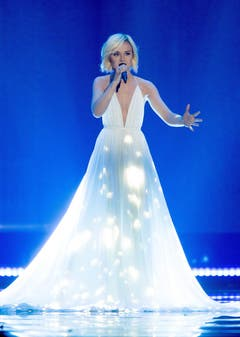 Russland: Sängerin Polina Gagarina. (Bild: GEORG HOCHMUTH)