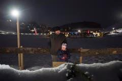 Weltrekord Adventskranz in Mosnang. © Urs Bucher/TAGBLATT (Bild: Urs Bucher)