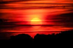 Roter Himmel in Herisau. (Bild: Luciano Pau)