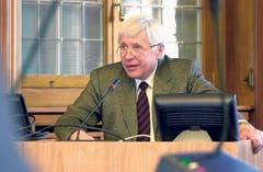 Gerhard Frey, OK-Präsident Gastauftritt beider Appenzell 2006, Niederteufen. (Bild: pd)