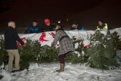 Weltrekord Adventskranz in Mosnang. (Bild: Urs Bucher)
