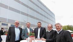 """Platz 8: Andreas und Joachim Kohm (ganz rechts aussen), deutschstämmige Versandhändler aus Horn. Auch ihr Vermögen liegt laut der """"Bilanz"""" bei 1 bis 1,5 Milliarden Franken. (Bild: pd)"""