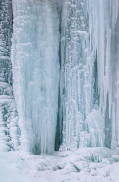 Eisskulptur beim Leuenfall AI (Bild: Gust Ledergerber)