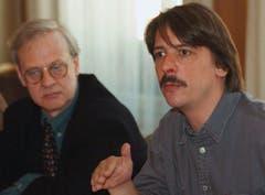 Die beiden SP-Nationalräte Paul Rechsteiner Nils de Dardel 1997. (Bild: Keystone)