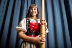 Lisa Stoll, Alphornsolistin, Wilchingen. (Bild: Benjamin Manser)