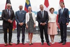 Aurelia Frick an einem Aussenministertreffen in Neuenburg im August 2015. (Bild: KEYSTONE/Peter Schneider)