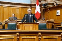 Ueli Maurer, Bundesrat, Bern. (Bild: PETER KLAUNZER (KEYSTONE))