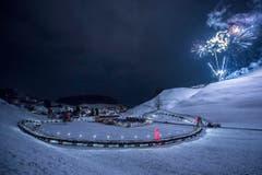 Weltrekord Adventskranz in Mosnang (Bild: Urs Bucher)