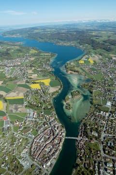 Der Bodensee und der Rhein mit dem Seerücken. (Bild: Ursula Gebendinger)