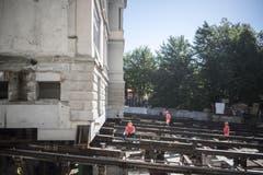 Die Villa Jacob muss rund 20 Meter überwinden. (Bild: Benjamin Manser)