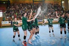 28. Mai: Die Damen des LC Brühl sind Schweizer Meisterinnen im Handball. (Bild: Ralph Ribi)