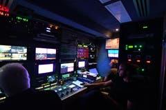 19.40: Viel Technik für die Sendung. (Bild: Manuel Nagel)