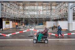 Rathausunterführung, nach einjähriger Bauzeit im Rohbau, vor Wiedereröffnung (Bild: Urs Bucher)