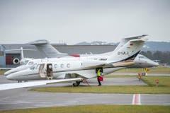 WEF-Flugverkehr am Flughafen Altenrhein (Bild: Urs Bucher)