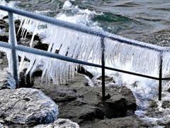 Windiger Eistag am Bodensee. (Bild: Hanspeter Berger)