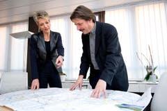 Ständerätin Karin Keller-Sutter und Ständerat Paul Rechsteiner 2012. (Bild: Keystone)