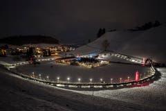 Weltrekord Adventskranz in Mosnang © Urs Bucher/TAGBLATT (Bild: Urs Bucher)