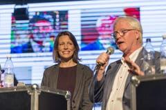 Kandidatin Sonja Lüthi (GLP) und Kandidat Jürg Brunner (SVP). (Bild: Hanspeter Schiess)