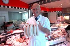 Peter Oscar, Inhaber der Metzgerei Schmid, St.Gallen. (Bild: Nana Do Carmo)