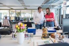 Impressionen des neuen Newsrooms an der Fürstenlandstrasse © Urs Bucher/TAGBLATT (Bild: Urs Bucher)
