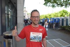 Claude Blum, Stadt Luzern, Startnummer 20 341, zum 41. Stadtlauf: «Ich starte heute zwei Mal. Einmal mit der Familie und einmal mit der Firma. Die Vorfreude ist riesig.» (Bild: LZ)