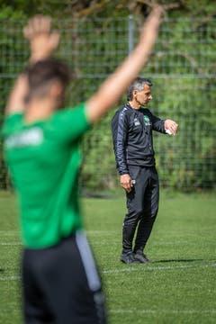 Fussball. Erstes Training des FCSG unter Boro Kuzmanovic, Interimstrainer. (Bild: Michel Canonica)
