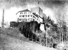 Das Schloss vor dem Rückbau 1972 von Südosten. (Bild: (Bürgerarchiv Weinfelden))