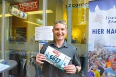 Jimmy Kiser, Neuenkirch, Startnummer 6877, zum 41. Stadtlauf: «Das ist ein Heimspiel für mich, es ist schon fast Pflicht, in Luzern zu starten.» (Bild: LZ)