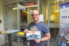 Daniel Kälin, Neuenkirch, Startnummer 26 778, zum 41. Stadtlauf: «Der Laufsport ist Teil meines Lebens. Ich geniesse am Stadtlauf die einmalige Atmosphäre rund um den Lauf.» (Bild: LZ)