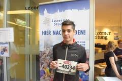 Florian Kalt, Hellbühl, Startnummer 40 234, zum 41. Stadtlauf: «Ich will in meiner Kategorie unter die Top 10 laufen. Auf den Lauf und die super Stimmung in der Stadt freue ich mich sehr.» (Bild: LZ)