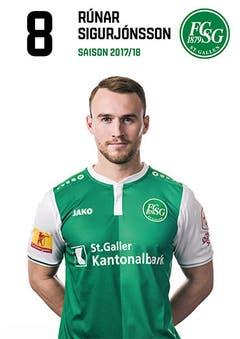 Runar Sigurjonsson: Note 5: Er ist der beste St.Galler. Spielt mit Übersicht und Ruhe, ist zudem genauer Passgeber – und kaltblütiger Doppeltorschütze. (Bild: pd)