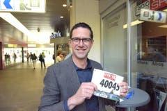 Pius Barmet, Horw, Startnummer 40 045, zum 41. Stadtlauf: «Meine Tochter hat mich dazu motiviert, am Stadtlauf mitzumachen.» (Bild: LZ)