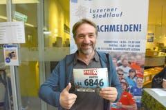 Martin Bärlocher, Stadt Luzern, Startnummer 6846, zum 41. Stadtlauf: «Ich bin aus Rothrist nach Luzern gezügelt. Als Neuzuzüger ist es für mich ein Muss, hier zu starten.» (Bild: LZ)