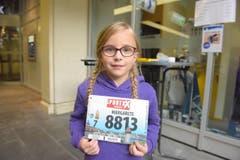 Margarete Mützel, Stadt Luzern, Startnummer 8813, zum 41. Stadtlauf: «Ich freue mich natürlich am meisten auf die Medaille, die wir im Ziel erhalten.» (Bild: LZ)