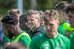 Sportchef Alain Sutter war beim Training dabei. (Bild: Michel Canonica)