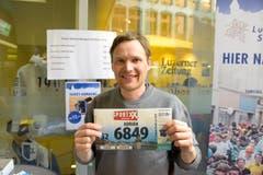 Adrian Bieri, Willisau, Startnummer 6849, zum 41. Stadtlauf: «Mein Bruder hat mich provoziert. Er sagte, dass er schneller sei als ich. Nun beweise ich ihm das Gegenteil.» (Bild: LZ)