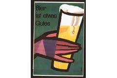 «Bier ist etwas Gutes»: Klassische Werbung aus dem Jahr 1955. (Bild: SBV)
