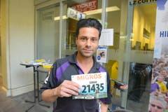Sergio Trotta, Neuenkirch, Startnummer 21 435, zum 41. Stadtlauf: «Das ist mein Jahreslauf, das Highlight. Für mich steht auch das Gesellige im Mittelpunkt.» (Bild: LZ)