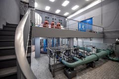 Ein Blick ins Innere des Pumpwerks Schiltwald. (Bild: Pius Amrein (1. Mai 2018))