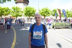 Marcel Buchmann, Hochdorf, Startnummer 14 774, zum 41. Stadtlauf: «Ich bin nun schon zum 10. Mal am Start hier in Luzern. Für mich ist das Mitmachen das Wichtigste. Ich gehe auch gerne privat joggen.» (Bild: LZ)