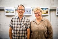 Auch sie knipsen für die TZ: Christof Hablützel und Monika Messerli. (Bild: Reto Martin)
