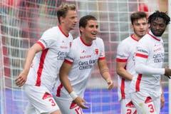 Der FC Sion geht gegen den FC St.Gallen als Sieger vom Platz. (Bild: Keystone)