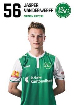 Jasper van der Werff: Note 3,5. Trotz eines Fehlers, der beinahe zum 0:2 führt, ist er noch St. Gallens agilster Abwehrspieler. (Bild: pd)