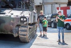 Panzer- und Armeefahrzeugtreffen Bürglen 2018 (Bild: Andrea Stalder)