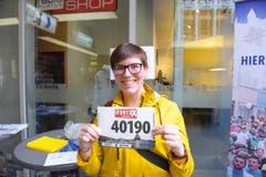 Melina Wicki, Emmenbrücke, Startnummer 40 190, zum 41. Stadtlauf: «Ich starte einfach zum Plausch. Es ist wichtig, dass wir solche Anlässe aktiv unterstützen, damit sie auch eine Zukunft haben.» (Bild: LZ)